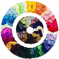 Hair Scrunchies, THETAG 40 Pcs Colorful Elastic Velvet Hair Bands Hair Ties Ropes Scrunchy Ponytail Holder Premium Hair Accessories Headbands for Women Girls