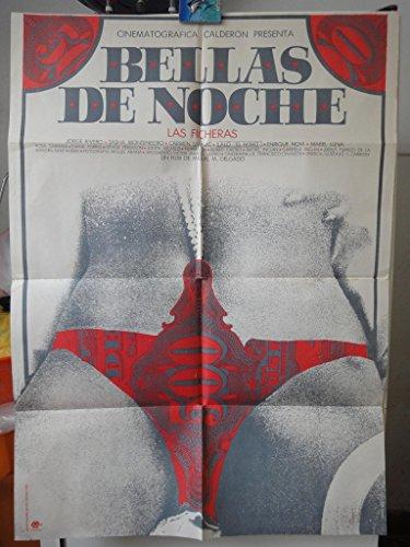 Original Mexican Movie Poster Bellas De Noche Las Ficheras Sasha Montenegro Carmen Salinas
