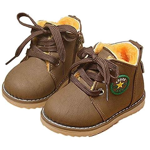 FEITONG Art und Weise Nette Winter Baby Kind Armee Art Martin Aufladungs warme Schuhe (1-2 Alter, Khaki)
