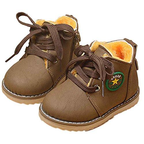 FEITONG Art und Weise Nette Winter Baby Kind Armee Art Martin Aufladungs warme Schuhe (1-2 Alter, Khaki) (Baby Baby-mädchen Phat)