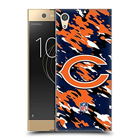 Official NFL Camou Chicago Bears Logo Hard Back Case for Sony Xperia XA1 / Dual