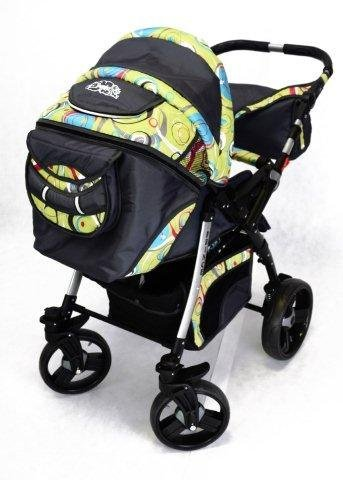 Best For Kids Prince Pram/Stroller different colors  Huge children's car set from Best For Kids. This package leaves nothing to be desired and will accompany you and your child from infancy. Included are a baby tub attachment and a sports seat (buggy). The individual attachments can be changed in seconds. The ingenious design is easy to use. Because of the low weight and size you can stow this stroller very easily in the car. Security has priority! With this combi-van you are always on the safe side. The Best For Kids stroller fulfills the European safety standard EN1888. This specifies safety requirements with regard to materials, construction and stability. Great colors - modern construction. This Best For Kids stroller is not only extremely versatile, it is also an absolute eye-catcher. The modern color scheme in combination with the large tires (to choose from 3 sets of wheels, also air bikes for 25 EUR surcharge) on the chrome rims provides a beautiful look. 2