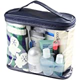Smarit Transparent Travel Toiletry Bag Clear PVC Cosmetics And Toiletries Organizer Bag For Men And Women