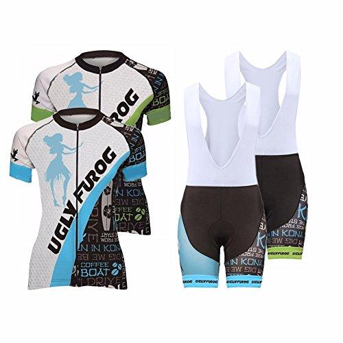 Uglyfrog ZO05 2018 New Damen Zyklus Jersey Short Sleeve +Bib Shorts Cyling suit Fahrradtrikot Fahrrad Hemd Fahrrad Top Outdoor Sports Radfahren (Radfahren Zyklus-fahrrad-jersey)