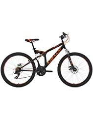 VTT tout suspendu 26'' Xtraxx noir-orange TC 46 cm KS Cycling