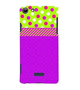 Dotted Green Blue Girl 3D Hard Polycarbonate Designer Back Case Cover for Micromax Canvas Selfie 3 Q348