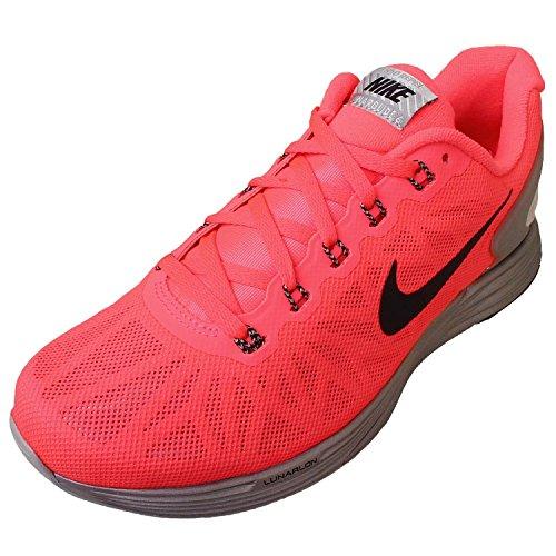 Nike 2015 Lunarglide 6 Flash in esecuzione della scarpa da tennis Scarpe 683.652-600 Us 5.5 Hyper Punch/Black