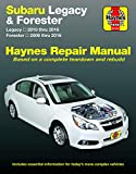Subaru Legacy (10-16) & Forester (09-16) Haynes Repair Manua (Hayne's Automotive Repair Manual)