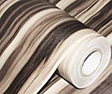 #4: CVANU® Self adhesive Wood Grain Wallpaper Waterproof Old Furniture Vinyl Stickers Wooden Door Wardrobe Desktop PVC Wall papers Cv174 24''x48''inch