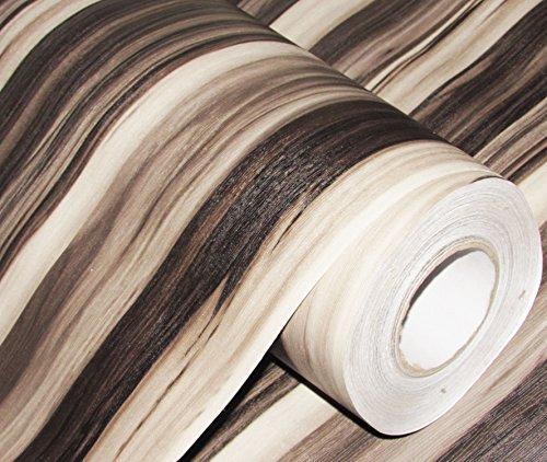 CVANU® Self Adhesive Wood Grain Wallpaper Waterproof Old Furniture Vinyl Stickers Wooden Door Wardrobe Desktop PVC Wall Papers Cv162 12''x96''inch