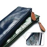 Sunlit Sunlit 2tlg 100% wasserdichte Tasche Beute Hülle für wiederverwendbare Edelstahl Strohhalme gerade / biegsam Trinkhalme oder Reinigungsbürste / Essstäbchen mit Reißverschluss für Reise Ausflug