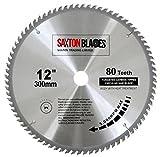 Saxton Lama da legno per sega circolare, 300 x 30 mm, con 80 denti in carburo di tungsteno, per utensili Bosch, Makita e altri, si adatta alle seghe da 305 mm