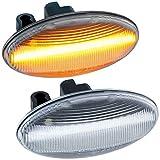 rm-style LED SEITENBLINKER kompatibel für Peugeot 107, 108, 1007, 206, 307, 407, 607 |KLARGLAS