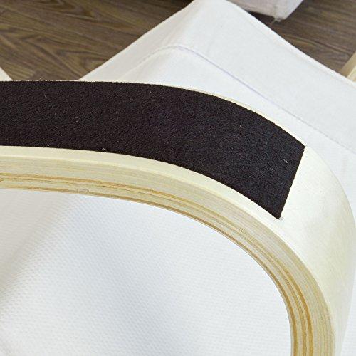 Stillstuhl SoBuy mit Tasche und verstellbarem Fußteil in beige - 5