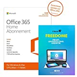 Microsoft Office 365 Home - 5PCs/MACs - 1 Jahresabonnement - multilingual (Product Key) [Download] + F-Secure Freedome VPN