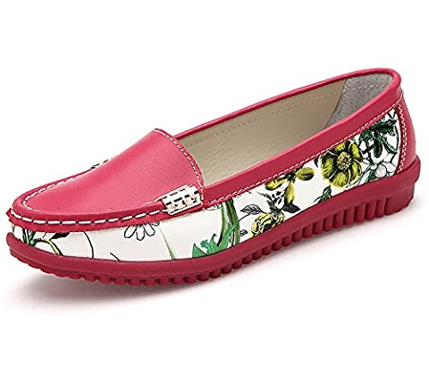 Verocara Women's Leather Flats Boat Shoes Casual Shoes Driving Loafers
