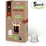 King Cup - Caffè Biologico & Fairtrade - 100% Arabica monorigine - 5 confezione da 10 Capsule Biodegradabili Nespresso®* (50 capsule)
