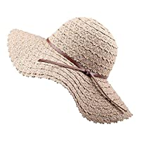 Summer Beach Sun Hats For Women Foldable Floppy Travel Packable UV Hat Cotton Wide Brim Fashion Hat