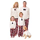 Juleya Set di Pigiama Famiglia - Sleepwear Pigiama di Natale per i Mom Kids di papà