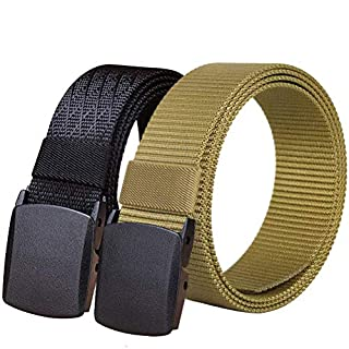 Fairwin Nylon Web Belt, 2 PCS 1.5 Inch Men's Webbing Casual Belt