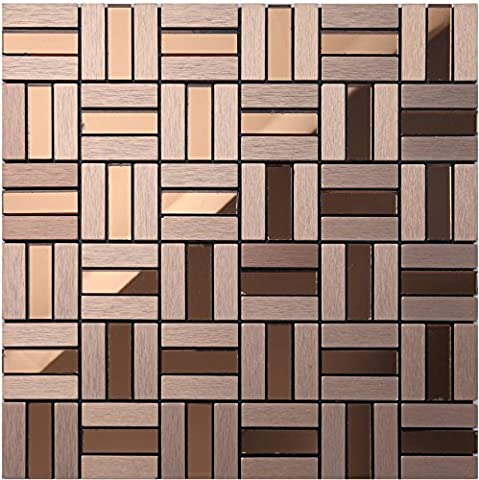 Diamond mirror glass and metal blends strip mosaic tiles, shiny home wall decorative building material, colorful Self-Adhesive Aluminium Plastic Panel tiles, LSG12/13 (22 pieces | 22sq.ft/2 sqm,