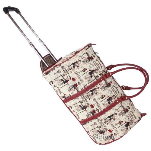 Signare fourre-tout à roulettes tapisserie/ bagage à roulettes et poignée rétractable Rendezvous