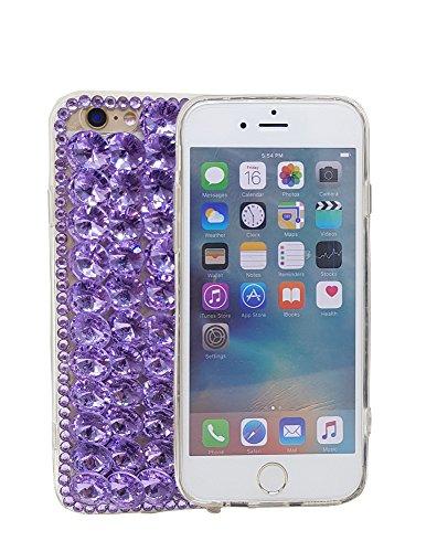 iPhone 711,9cm 3D Handgefertigt Luxus Glitzer Transparent Strass Fall Full Kristalle Diamond Cover. Bling Diamant Fall, violett Full Diamond Bling Snap