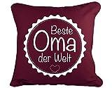 GD-designs Dekokissen Beste Oma der Welt Kissenbezug Kissenhülle 45cm x