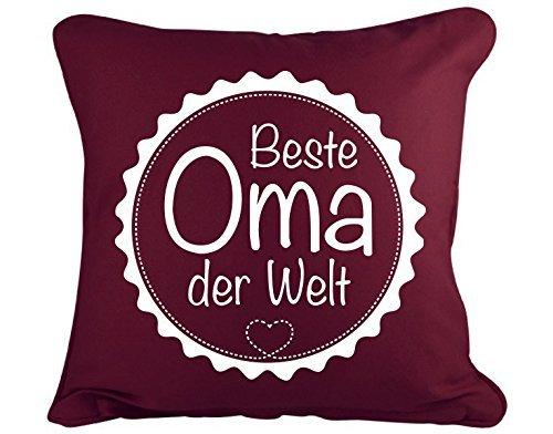 GD-designs Dekokissen Beste Oma der Welt Kissenbezug Kissenhülle 45cm x 45cm