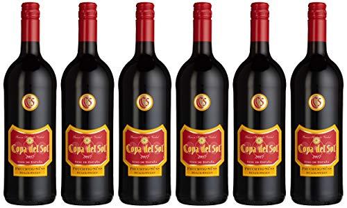 Copa del Sol Vino Tinto Fruchtig-Süß Rotwein (6 x 1 l)