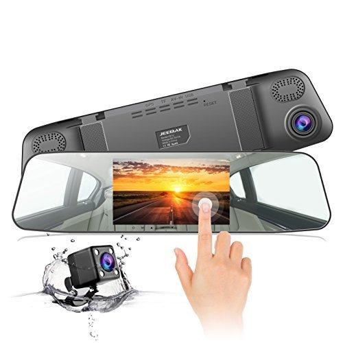 Foto Dash Cam, JEEMAK 1080P IPS Touch Screen Telecamera per Auto, 170 ° Grandangolare Telecamera Cruscotto, WDR, Registrazione in Loop, Monitoraggio del Parcheggio e G-Sensor