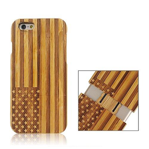 Zhou-covers, per iphone 6 & 6s, caso di legno separabile di modello della bandierina del regno unito (sku : s-ip6g-0336k)