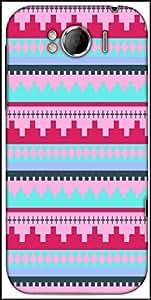 Snoogg Digit Aztec Pink Designer Protective Back Case Cover For HTC Sensation Xl