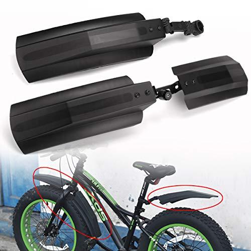 HITSAN INCORPORATION BIKGHT 26 Zoll Schneebad Fahrrad Vorderrad Hinterrad Schutzblech Fahrrad Kotflügel für Fat Tire Mountain Bike -
