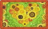 Toland Home Garden 18by 76,2cm Sunflower Herz Indoor Outdoor Matte, Standard