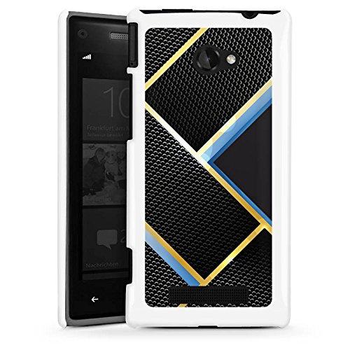 DeinDesign HTC Windows Phone 8X Hülle Schutz Hard Case Cover Muster Schwarz Blau Gold Carbon Black