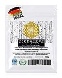 Cordyceps (Tibetischer Raupenpilz) - Ganzer Pilz | Qualitäts-Klasse I | GMP + ISO-9001-zertifiziert + laborgeprüft | roh vegan + schonend getrocknet | kein Pulver | Zufriedenheitsgarantie | 100g