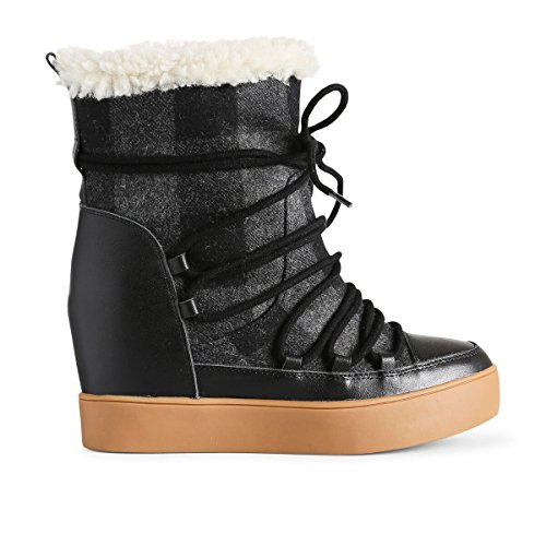 Shoe the Bear Trish Check Wool, Bottines Femme