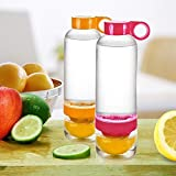 #8: Orpio Sport Water Bottle Fruit Juice Infusing Infuser Health Lemon Juice Bottle (Red)