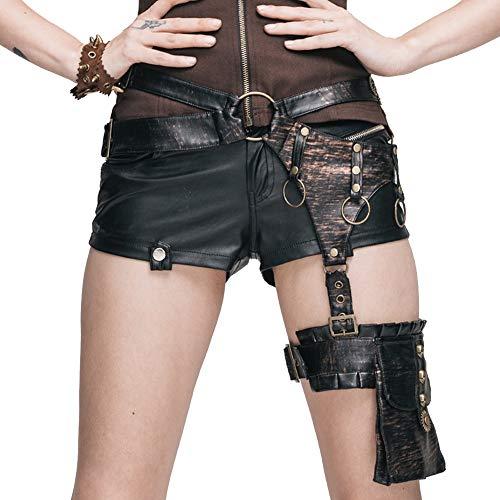 (Lady Rock Style Taille Beinbeutel Steampunk Cosplay Rucksack Schulmädchen Handtaschen Messenger Bags Kostüme Geldbörsen Steampunk Bag Wallet Portemonnaie Tasche)