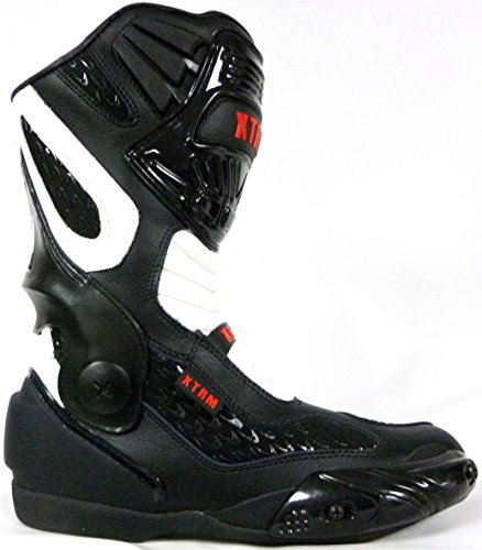 bottes de moto XTRM VENOM sport moto armure course tourisme bottes toutes couleurs blanc