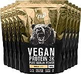 nu3 Vegan Protein 3K Proteine Isolate Vegetali in Polvere 9 kg - Polvere Proteica con Proteine da Piselli/Canapa/Riso Buona Solubilità - 71,2% Proteine - CS 137 Senza Aspartame - Gusto Vaniglia