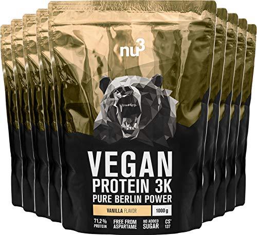 nu3 Vegan Protein 3K Shake - 9 Kg Vanille Geschmack - für Fitnessstudios, Fitnessgruppen, Einzelhandel & Gewerbe - Fitnessstudio Zubehör - mit 70{d6c81cb5376e80480618d85c9e6659e33ffaf790e37f63306ea13a6bdf66a628} Eiweiß - Pulver - Rechnungen mit USt - XXL Pack