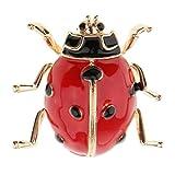 Homyl Mignon Émail Coccinelle Bug Insecte Broche Womens Mens Bijoux de Mode - Rouge