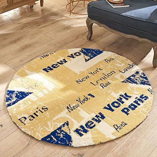 Verdicken Sie runden Bereich Teppich, moderne rutschfeste weiche Teppich Computer Stuhl Teppich Läufer Teppich Bodenmatte für Sofa Wohnzimmer Schlafzimmer Home Decor , 120cm Durchmesser (8 Ft Runde Bereich Teppich)