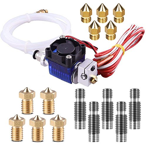 16pcs J-Head V6 Hotend Sets, TopDirect All-Metal Kit de Hotend con 10pcs...