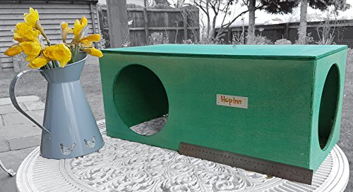 Hop Inn Rabbit Hide House (Sage) LARGE Indoor or Outdoor, Cat Hide, for Big Rabbits and Cats too, READY MADE and Built… 2