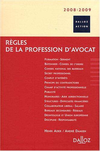 Règles de la profession d'avocat