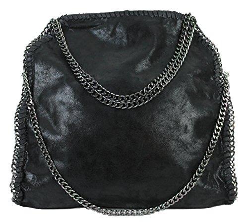 limited-colors-handtasche-vivien-lederlook-damen-schwarz-grau-rosa-jeans-shopper-beuteltasche-mit-ke