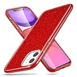 Inconnu ESR Coque pour iPhone 11 Rouge, Coque Silicone Paillette Strass Brillante Bling Bling Glitter de pour Apple iPhone 11 (2019) 6,1 Pouces (Série Glamour, Rouge Pailleté)